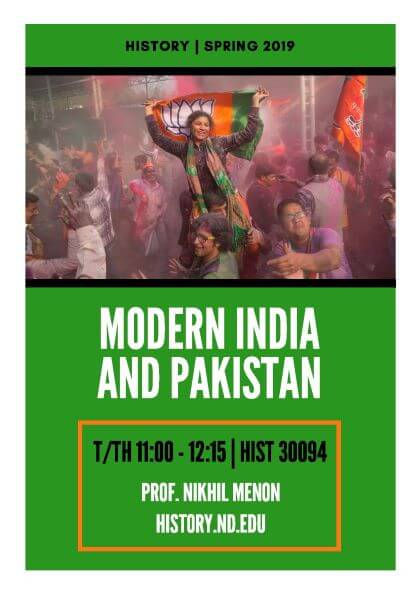 Poster Modern India And Pakistan Reduced